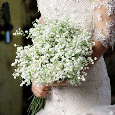 Bouquet Silk Flower Fake Artificial Party Wedding Details Gypsophila Floral