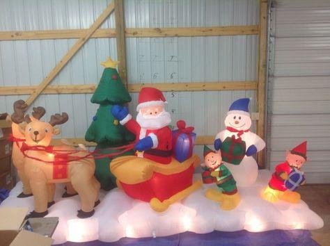 Gemmy PROTOTYPE Airblown Inflatable Christmas Lightshow Santa Sleigh # 11657