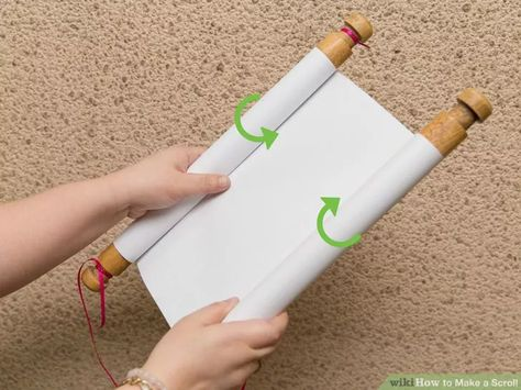 How to make a scroll