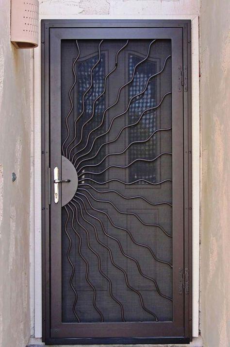 22 Ideas Metal Door Grill Irons Door Grill Ideas Irons Metal Security Screen Door Screen Door Door Design Interior