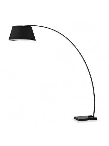 Chop Ad Arco Con Paralume Nero O Bianco Lampada Da Terra