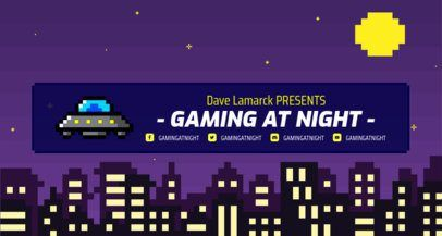 Click To Use This Template Retro Twitch Banner Maker With A Night