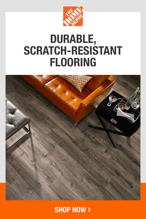 Easy to install and easy on the budget, laminate flooring is scratch-resistant and ideal for homes with pets and children. Click to discover the wide selection of laminate flooring at The Home Depot.