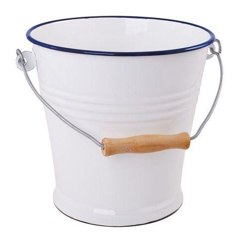 Enamel Bucket - 5L - by Redecker