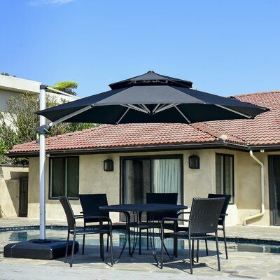 Freeport Park Maidenhead 11 Cantilever Umbrella Fabric Colour Black In 2020 Cantilever Umbrella Offset Umbrella Patio