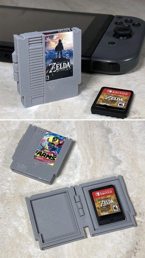 NES Nintendo Switch Cartridge Case! #nintendo #switch #nintendoswitch #merch #merchandise #nes #snes #retro #gaming #retrogaming #breathofthewild #zelda #legendofzelda
