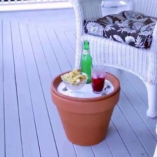 DIY la table basse coffre en pot de fleur pour le jardin la terrasse ou le balcon à faire soi même #diy #doityourself #terrasse