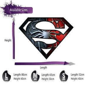 SUPERMAN LOGO FULL COLOUR WALL ART STICKER GRAPHIC - BOYS SPIDERMAN C48 | eBay
