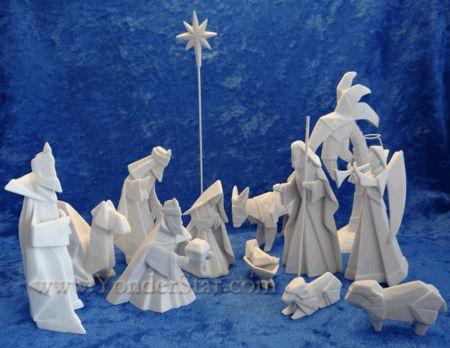 Porcelainorigaminativityscenegif Unique Nativity Sets - Hipster nativity set reimagines the birth of jesus in 2016