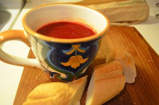 Hearty Tomato- Root Vegetable soup
