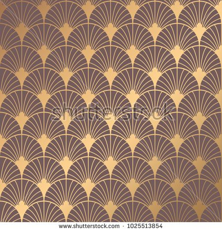 Art Deco Pattern Seamless Golden Background Minimalistic Geometric Design Vector Line Design 1920 30s Art Deco Pattern Art Deco Wallpaper Art Deco Patterns