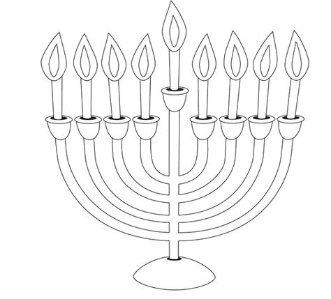 Menorah Coloring For Kids Manorah Coloring Pages Kidsdrawing