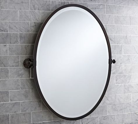 Kensington Oval Pivot Mirror In 2020 Oval Mirror Farmhouse