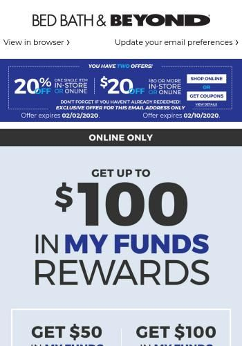 How To Get Bed Bath And Beyond Coupons Mailed