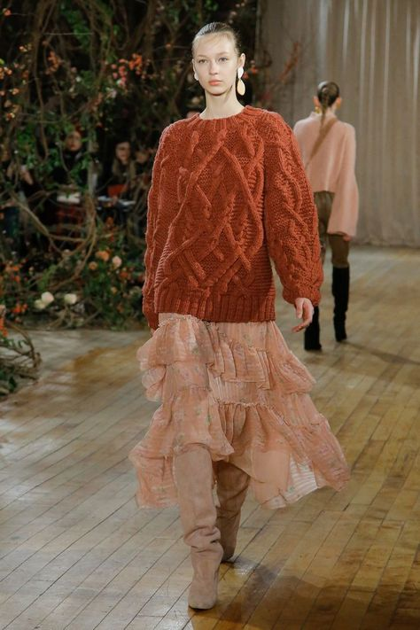 Great mix of hues and textures! Ulla Johnson Fall 2017 RTW