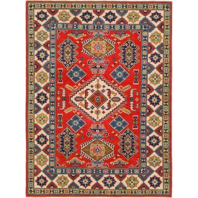 Isabelline One Of A Kind Alayna Hand Knotted 4 10 X 6 7 Wool Ivory Red Area Rug Wool Area Rugs Colorful Rugs Area Rugs