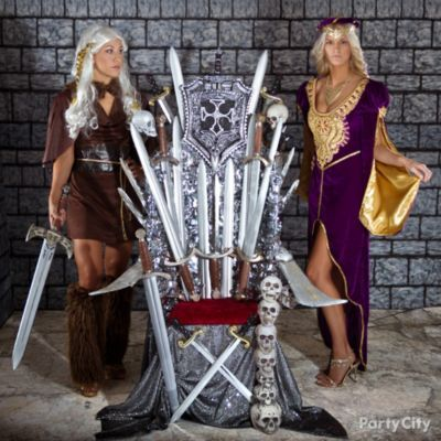 Rule Halloween with a medieval throne room ... a righteous photo booth idea for a Halloween party!
