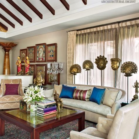 Pinky And Gv Sanjay Reddy S Hyderabad Home Is A Luxurious Oasis In The City Indian Home Decor Indian Home Interior Home Decor