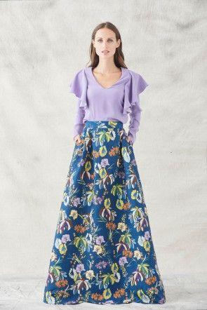 comprar online falda larga armada ajustada en cintura