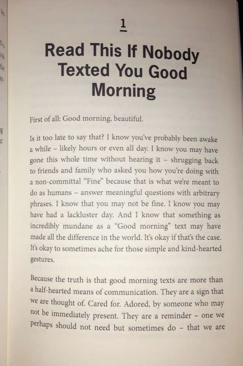 Good morning texts are more than a half-heated means of communication. They are ... - Noelle Mae Lumb - #communication #good #halfheated #Lumb #Mae #means #morning #Noelle #Texts