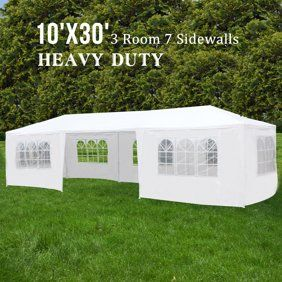 10 X30 Party Tent Wedding Outdoor Patio Tent Canopy Heavy Duty Gazebo Pavilion 5 Walmart Com Patio Tents Canopy Tent Event Tent