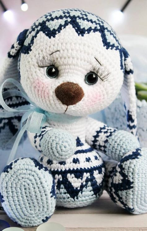 coniglietto amigurumi schema gratis free uncinetto crochet | 742x474