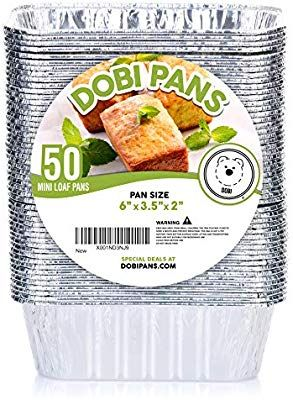 Amazon Com Dobi 50 Pack Mini Loaf Baking Pans Disposable