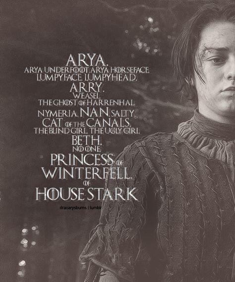 Stark Sibling Names Hoody Hoodie Top  Fangirl GoT Thrones Jon Snow Arya TV Show