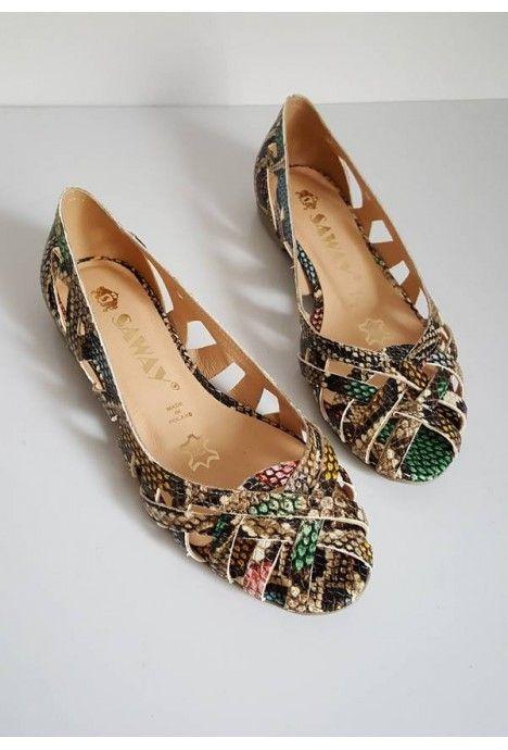 Kolorowe Azurowe Baleriny Maui Waz Shoes Flats Fashion