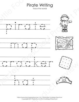 No Prep Pirate Writing Worksheets 25 Pages Of No Prep Pirate Themed Writing Worksheets Including 5 Pag Writing Worksheets Pirate Words Writing Practice