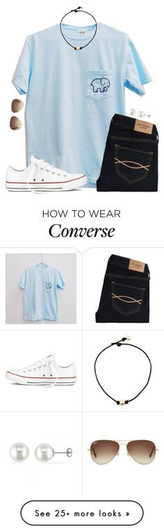 """""""getting an x-ray tomorrow#basketball #itsworthit"""" by lydia-hh on Polyvore featuring Abercrombie & Fitch, Converse, Allurez, Ray-Ban, women's clothing, women, female, woman, misses and juniors"""