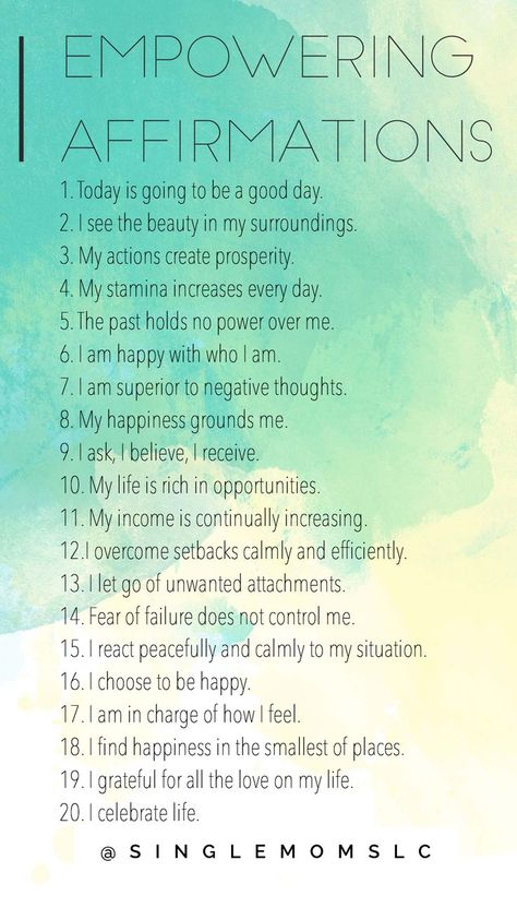 My advice is to say at least 10 to yourself daily.. I'm going to start saying them all