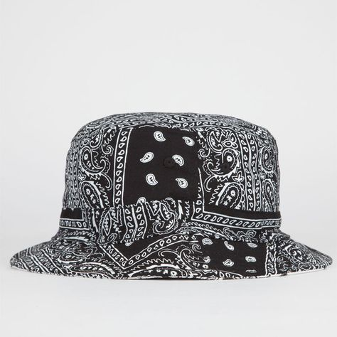 0bd81432 Blue Crown Reversible Paisley Mens Bucket Hat ($20) ❤ liked on Polyvore  featuring men's