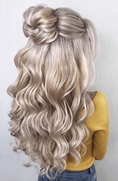 Adorable Bun Hairstyles You Need To Try ASAP | Elegant Half Up Bun | Hairstyleonpoint.com