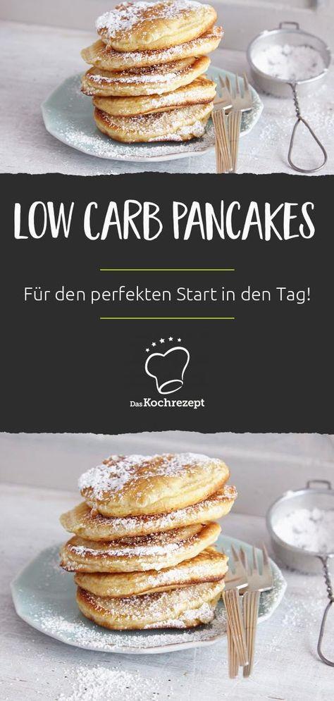 Wenig Kohlenhydrate, viel Geschmack: Unsere Low-Carb-Pancakes mit Mandelmehl sind der Hit auf dem Frühstückstisch. #lowcarb #pancakes #frühstück #sweets #daskochrezept