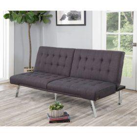 Excellent Clayton Gray Futon Sofa Bed In 2019 Airnbnb Futon Sofa Machost Co Dining Chair Design Ideas Machostcouk