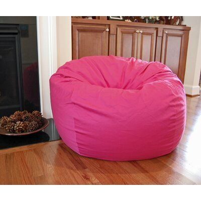 Harriet Bee Large Bean Bag Chair Upholstery Color Pink Bean Bag