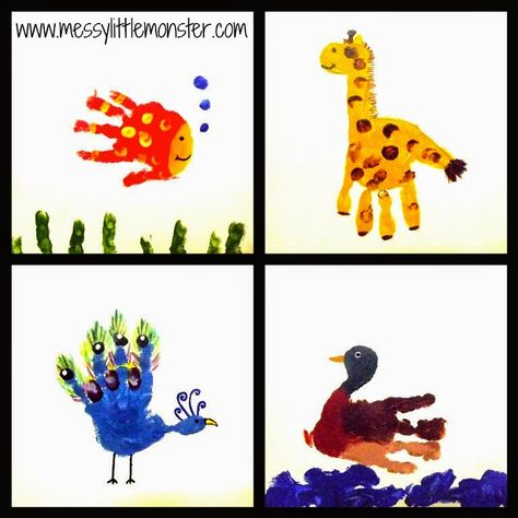 Messy Little Monster: Handprint Picture Canvas Gifts
