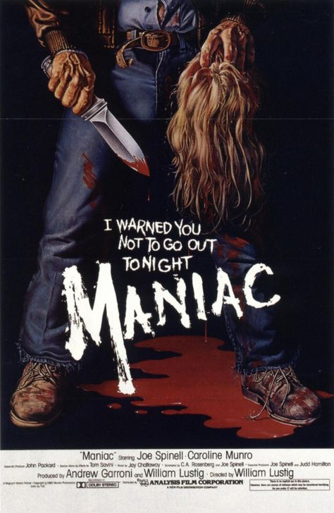 John's Horror Corner: Maniac (1980), a sick, brutal, ultra-violent (for its time) slasher movie with an in-depth look into its killer.