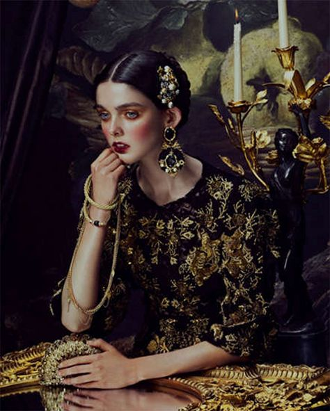 These baroque beauties look beyond opulent in Renaissance inspired portraits by Andrew Yee for How to Spend It Magazi.