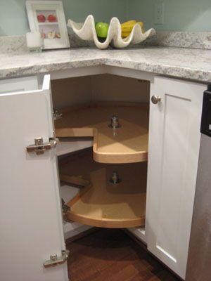 Elegant Kitchen Cabinets Lazy Susan Corner Cabinet