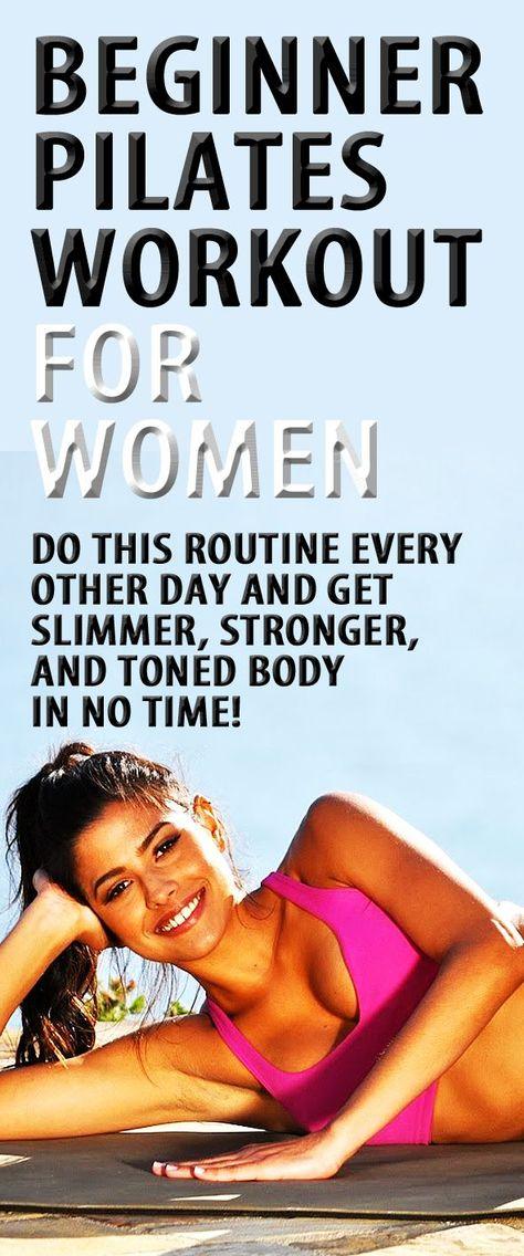 Calming and relaxing beginners Pilates workout for slimmer & stronger body. #Pilates #workoutforwomen #gluteworkout #tonedbutt