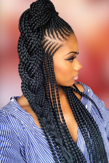 Box Braids Hairstyles 2020 2021 In 2020 Hair Styles Braids For Black Hair Cornrow Hairstyles