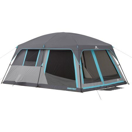 Ozark Trail 14' x 10' Half Dark Rest Frp Cabin Tent, Sleeps