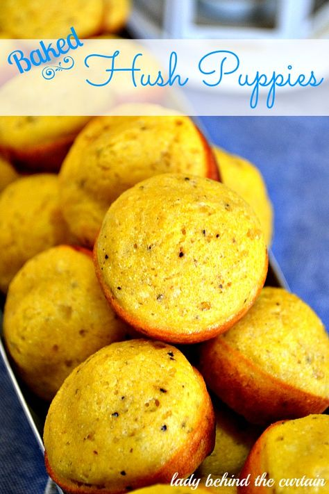 Lady Behind The Curtain - Baked Hush Puppies http://www.ladybehindthecurtain.com/baked-hush-puppies/