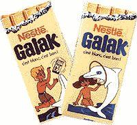 Le Galak, on se souvient autant du chocolat que de la pub avec Oum le dauphin blanc !