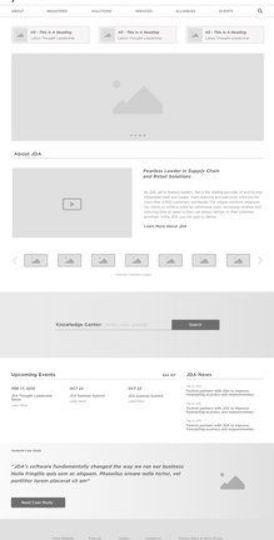 Jda Home Wireframe Design Website Design Layout Web Layout Design
