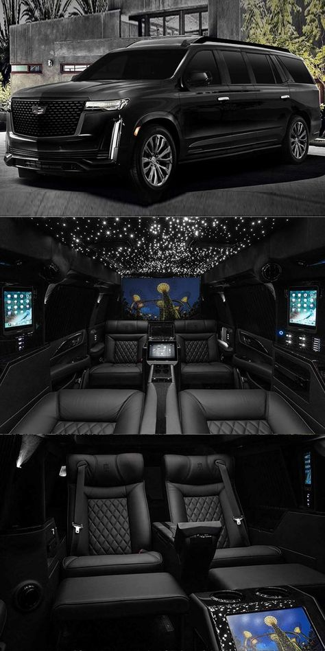 2021 Cadillac Escalade Transformed Into Super-Opulent Mobile Office. For just the cost of a house you could have this ultra-luxurious Cadillac. Cadillac Ats, Cadillac Escalade, My Dream Car, Dream Cars, Chevy Trucks, 4x4 Trucks, Diesel Trucks, Lifted Trucks, School Bus House