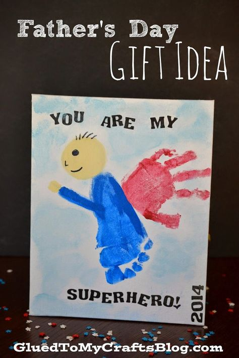 You Are My Superhero {Father's Day Gift Idea} Fun Idea for young children to recreate and gift!