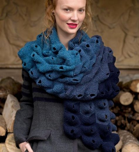 Barnacle scarf,  The Knitter